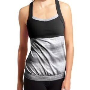 Athleta Crunch and Punch Tank Black And White